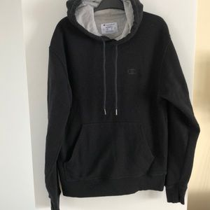 Champion authentic black hoodie medium unisex m